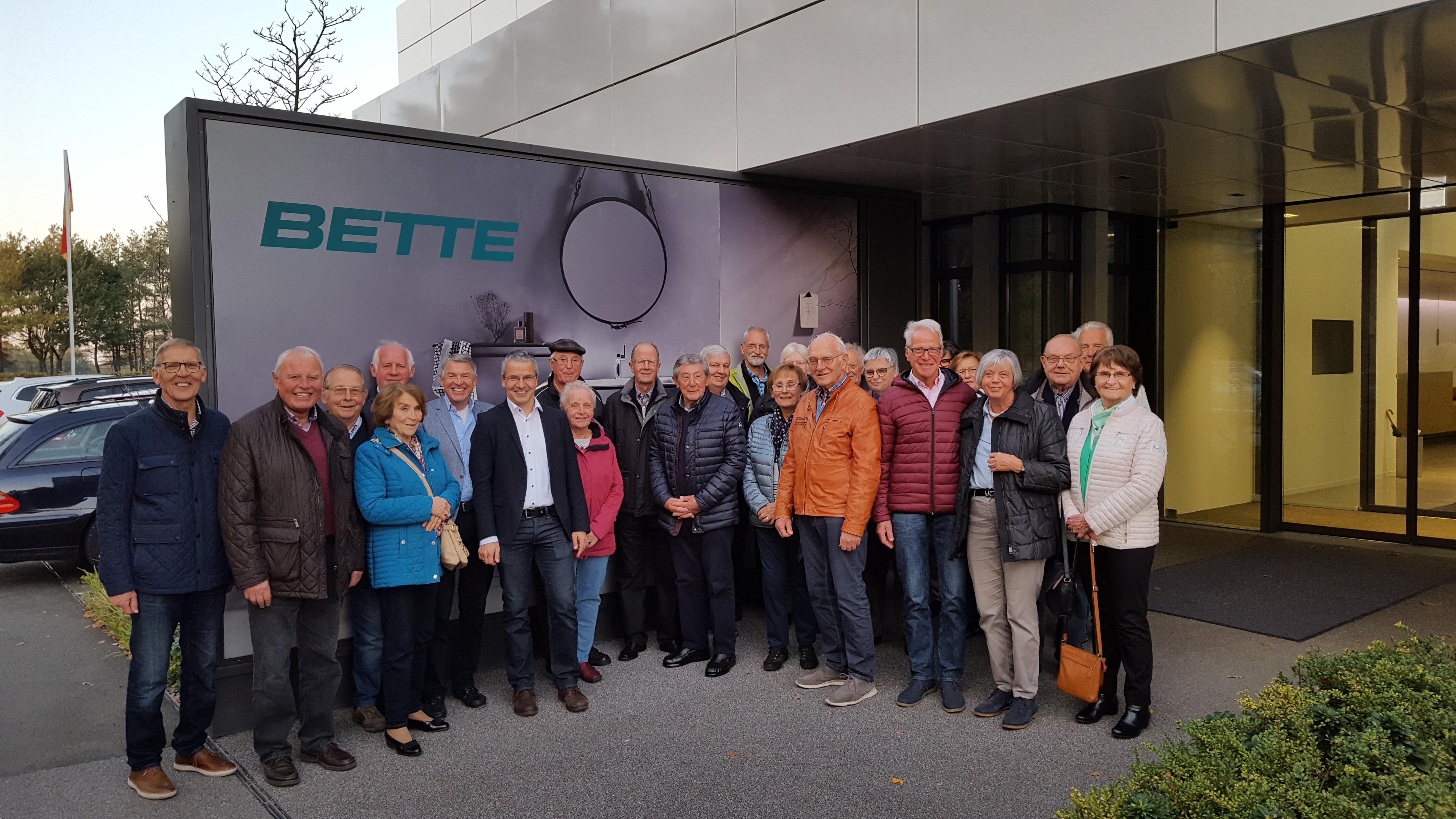 31.10.19 – Die Seniorenunion zu Gast bei der Fa Bette GmbH & Co. KG in Delbrück