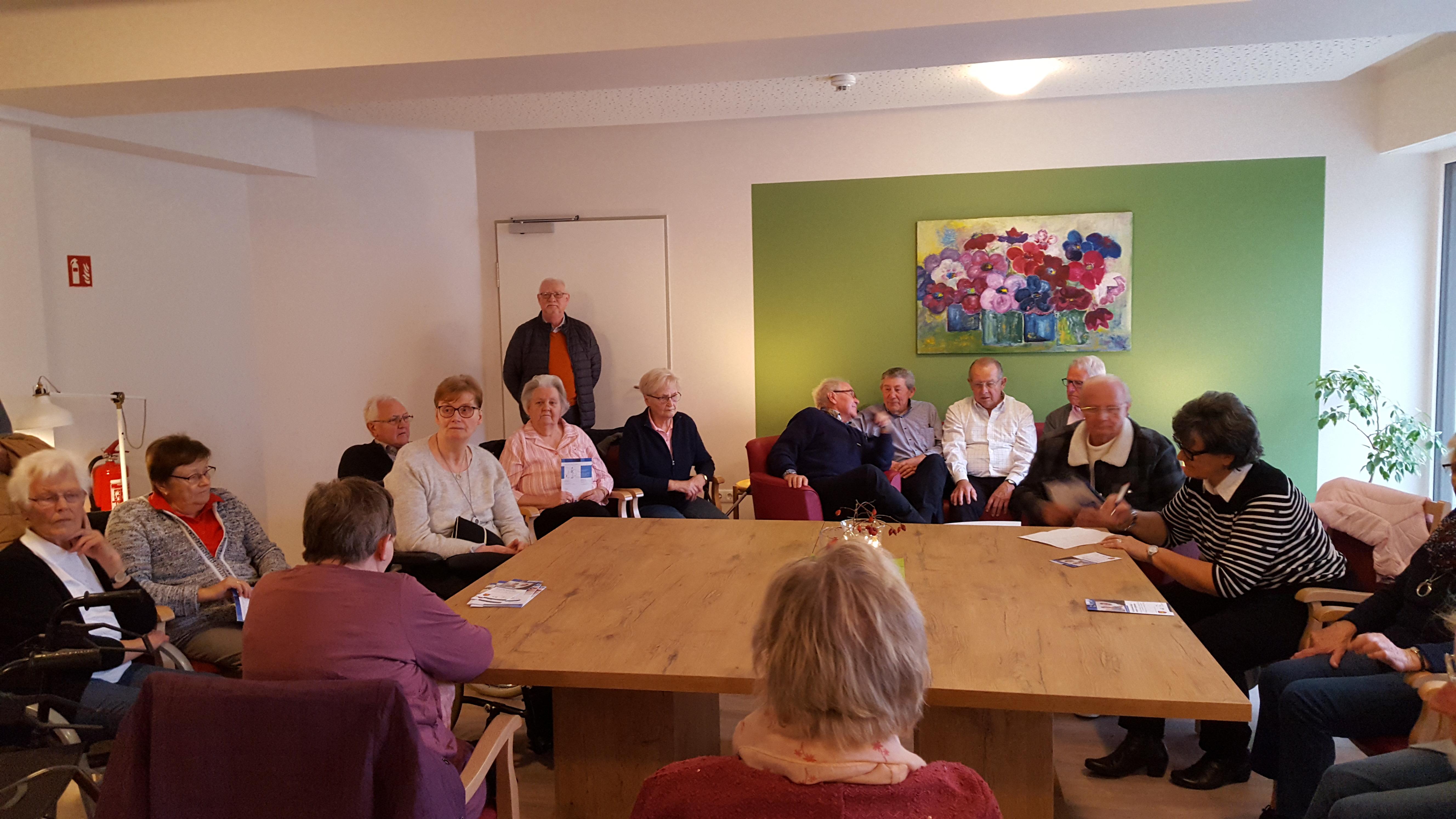 """07.11.2019 – Besuch der Caritas-Senioren-Wohngemeinschaft """"Sälzer Lagune"""""""
